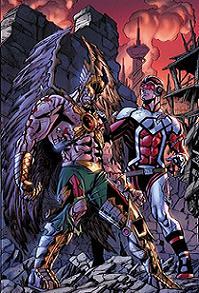 Death of Hawkman#1, portada de Aaron Lopresti