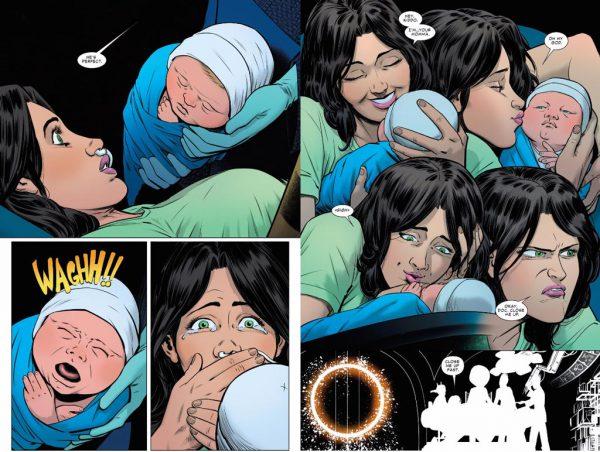 El nacimiento del peque. Lápices de Javier Rodríguez y tinta de Álvaro López