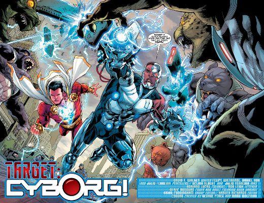 En estos números veremos un Tag Team entre Shazam y Cyborg