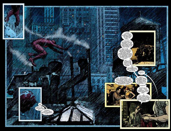 Detalle del trabajo de Alex Maleev en Daredevil.