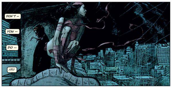 Como no, Elektra también hace acto de presencia en la historia.