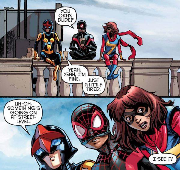 Los tres jóvenes nuevos Vengadores