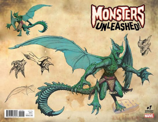 Portada variante de Monsters Unleashed