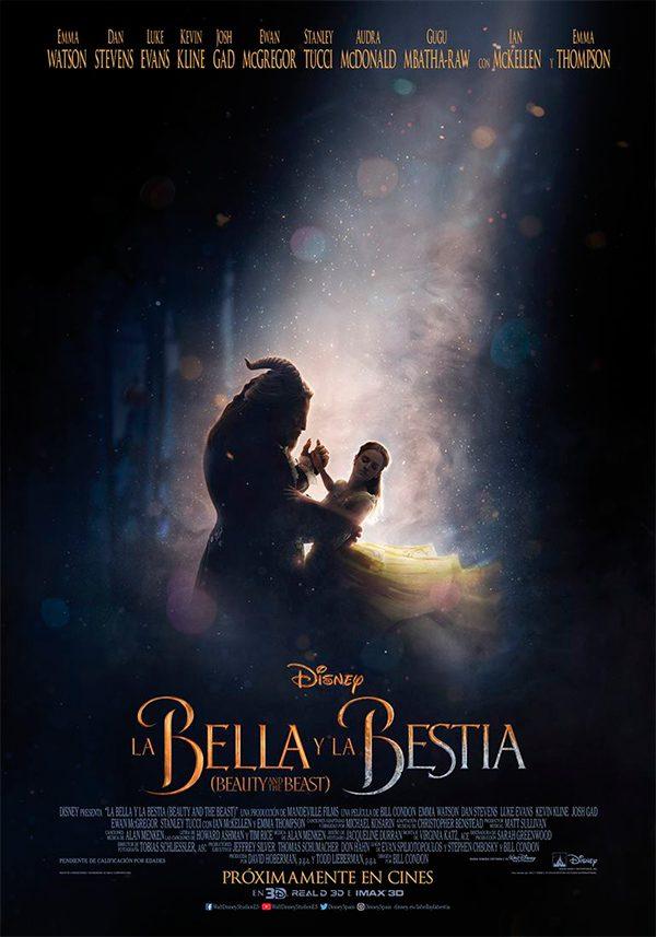 Póster español de La Bella y la Bestia