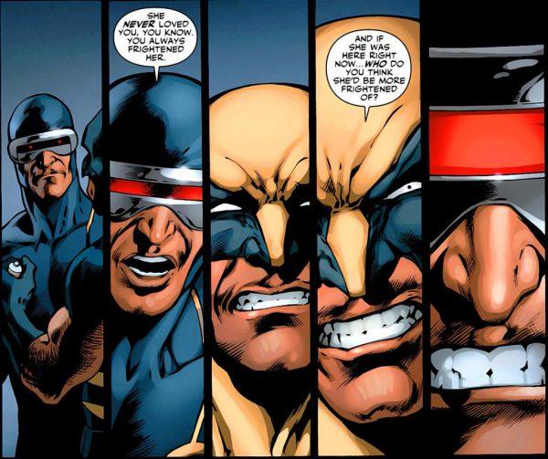 Logan diciéndole una verdad a Scott.