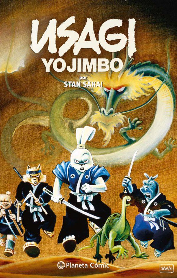Portada provisional del primer volumen recopilatorio de Usagi Yojimbo