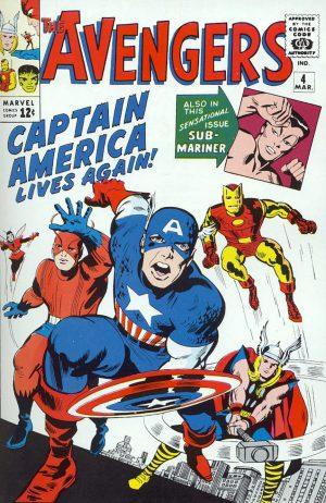 Avengers #4 de Jack Kirby
