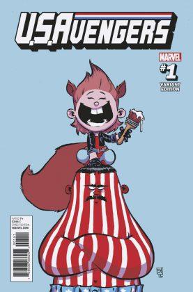 Portada variante de U.S.Avengers #1