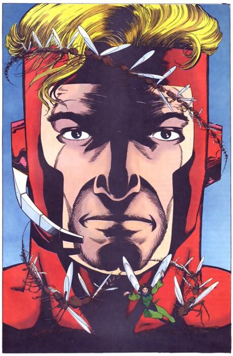 Ilustración compuesta por las cuatro portadas de la miniserie