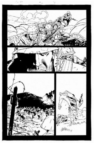 Punisher Platoon Preview B&W 1
