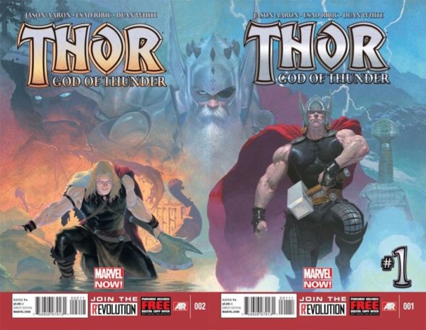 Thor God of Thunder Portadas 1 y 2