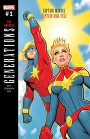Portada de Generations: Captain Marvel & Captain Mar-Vell