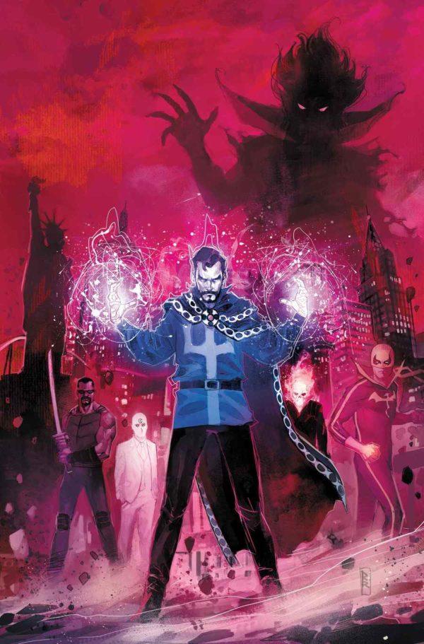 Portada de Doctor Strange: Damnation #1