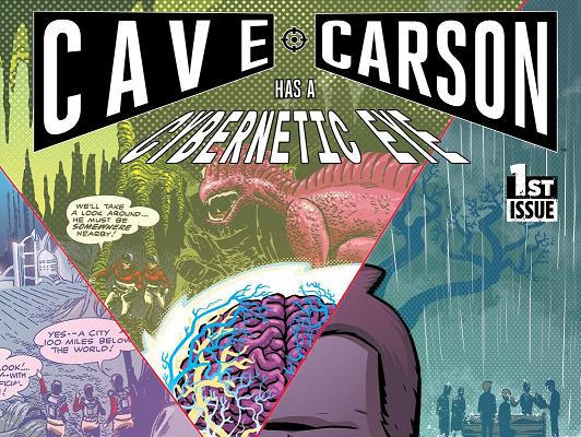 Edición original  Cave Carson has a cybernetic eye Vol. 1  Going  underground. Guión  Jon Rivera 1aa67fd83bb