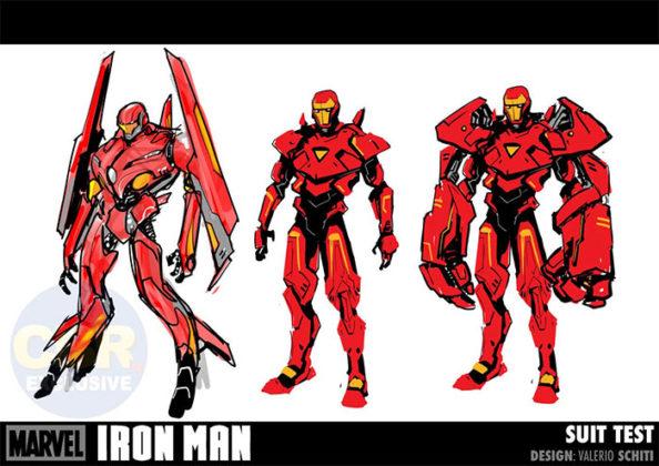 armaduras de Valerio Schiti para Tony Stark: Iron Man