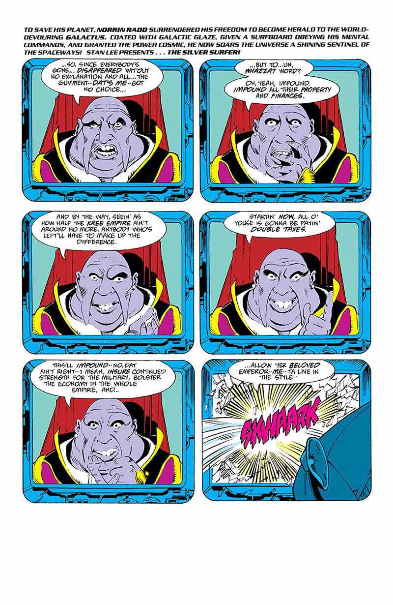 De este modo, el volumen comienza con un atribulado Estela Plateada que es  testigo de cómo Thanos construye en medio del cosmos un gigantesco  monumento a la ...