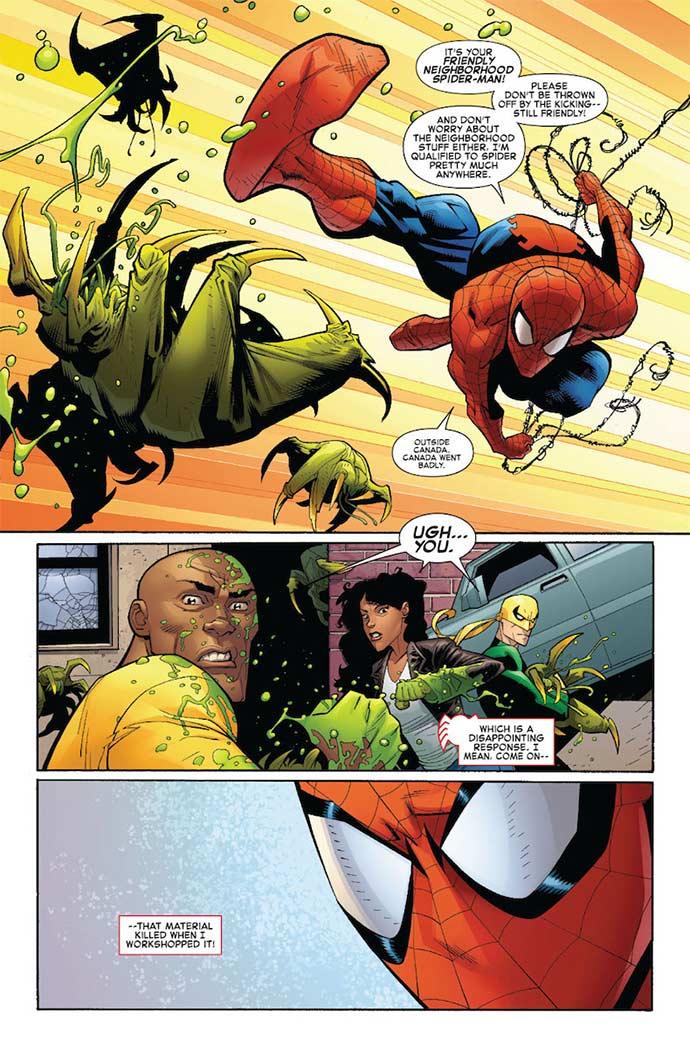 Página de Ryan Ottley para Amazing Spider-Man #1