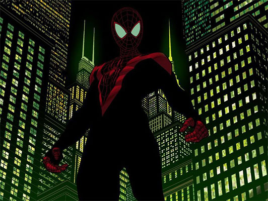 Dibujo Spiderman Miles Morales Para Colorear