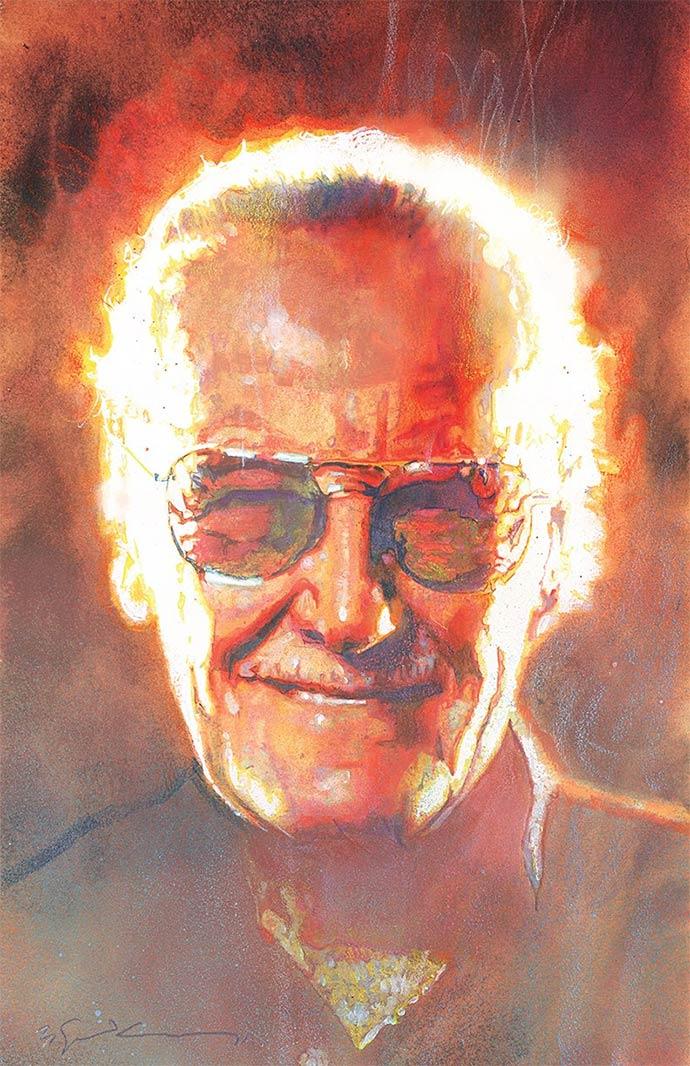 Stan Lee por Bill Sienkiewicz