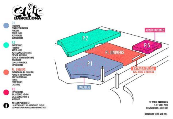 Mapa Pabellones