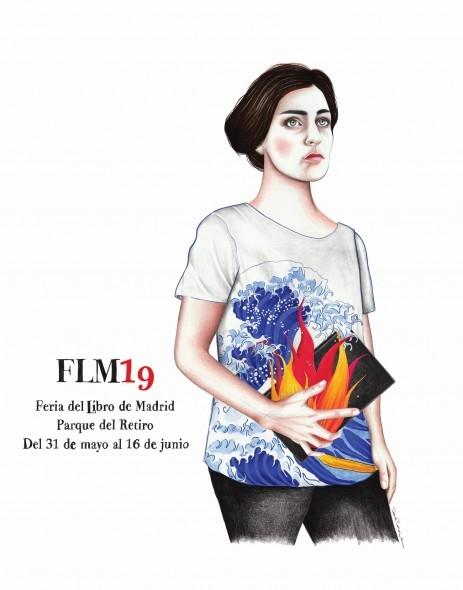 Cartel Feria del libro Madrid 2019 Sara Morante