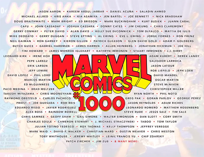 Marvel Comics #1000 autores