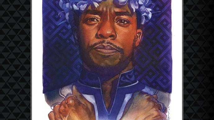 Chadwick Boseman Black Panther Tribute