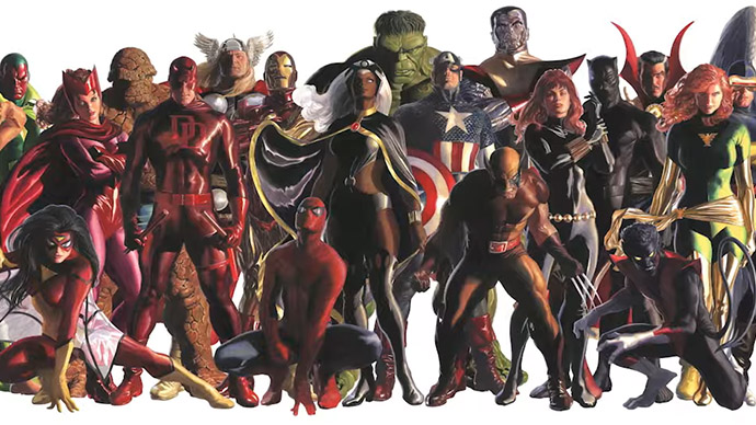 Alex Ross Mural Marvel