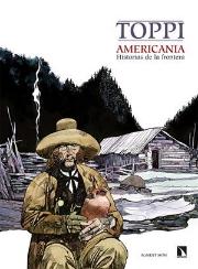 Portada Americania, Historias de la frontera de Sergio Toppi