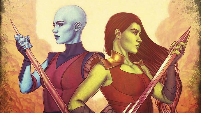Gamora Nebula Sisters in Arms