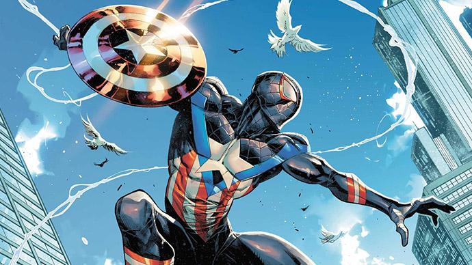 Miles Morales Captain America 80th Anniversay