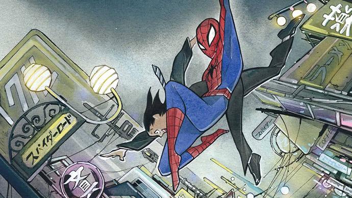 The Amazing Spider-Man Peach Momoko Variant Cover Boletín Marvel